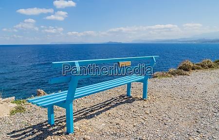 a bench at the coast