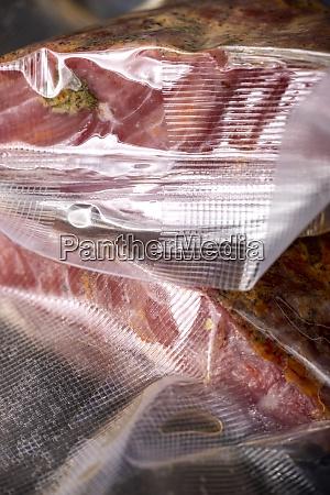 pastrami in plastic bags