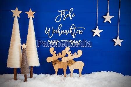 christmas tree moose snow star frohe