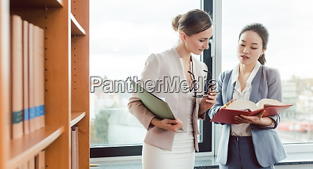 asian and european lawyer in their