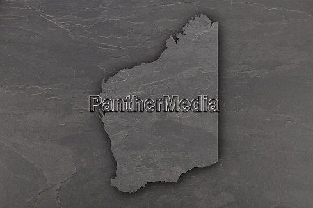 map of western australia on dark