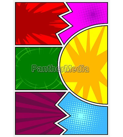 colorful comic book page template