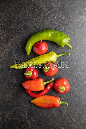 various types of peppers vegetables