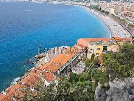 nice seaside aerial view