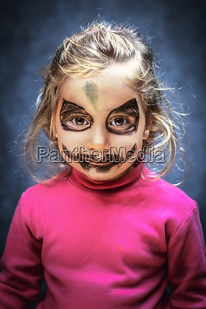 girl with face made up for