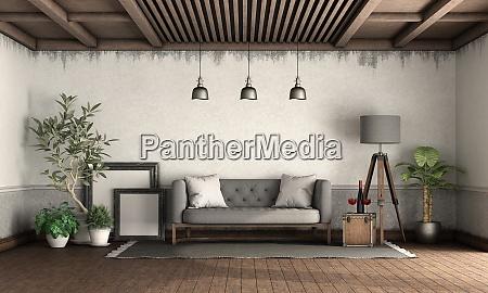 retro style living room with elegant