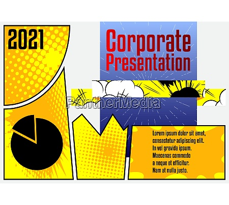 comic book business presentation template