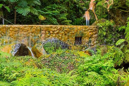 waterfall in caldeira velha