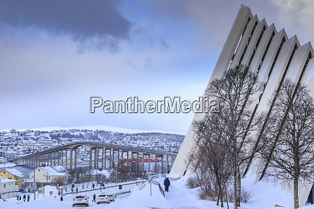 arctic cathedral tromsdalen tromso after heavy