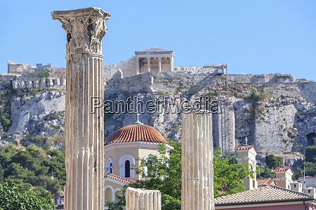 acropolis including library of hadrian columns