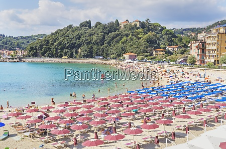 beach elevated view lerici la spezia