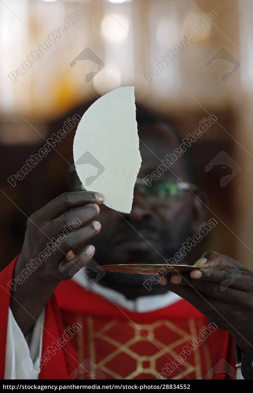 african, church, , sunday, catholic, mass, , eucharist - 28834552