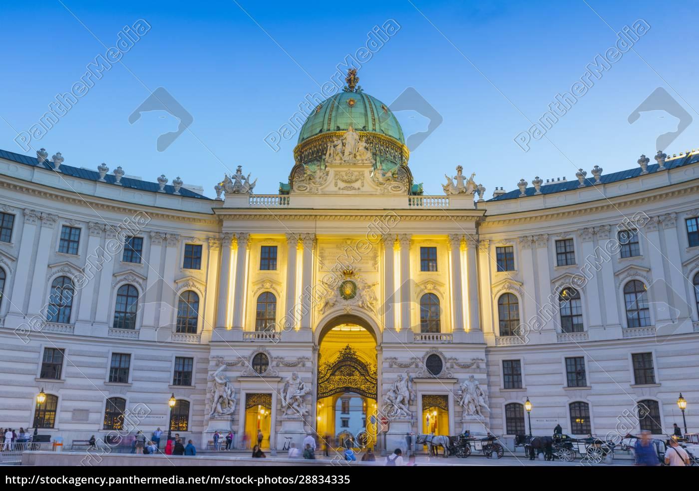 hofburg, palace, at, dusk, , vienna, , austria, - 28834335