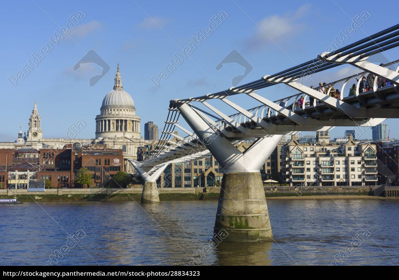 millennium, bridge, with, st., paul's, cathedral, - 28834323