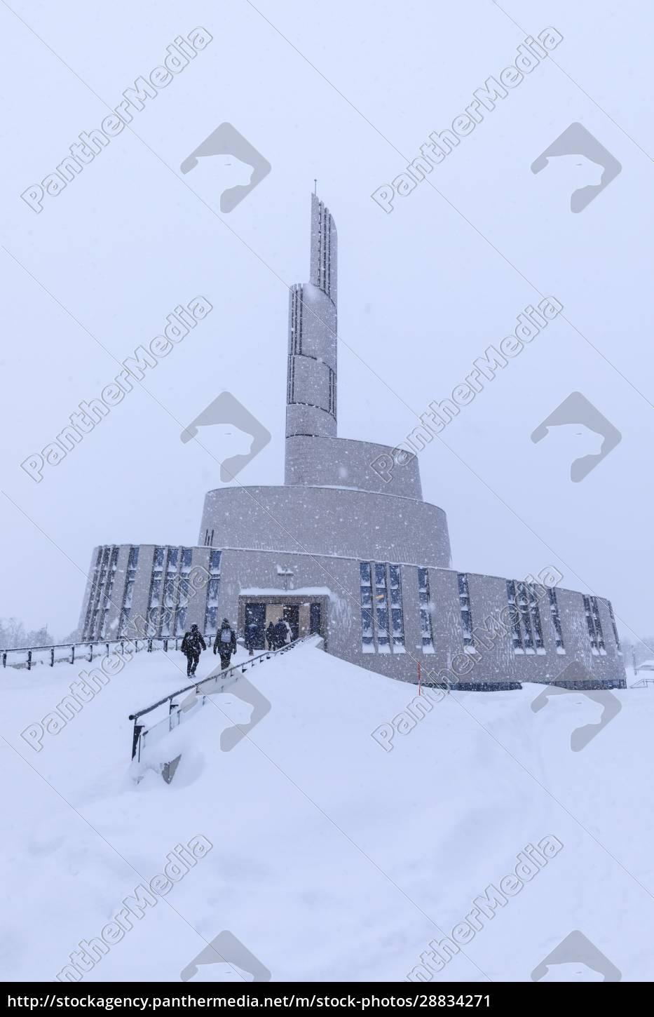 northern, lights, cathedral, , striking, architecture, , snow - 28834271