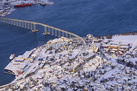 sunlit, tromsdalen, , arctic, cathedral, and, tromso - 28834277