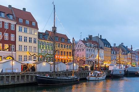 christmas market in nyhavn copenhagen denmark