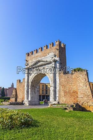 arch of augustus rimini emilia romagna