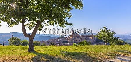 view from the albornoz fortress urbino