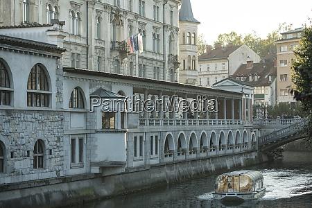 ljubljanica canal old town ljubljana slovenia