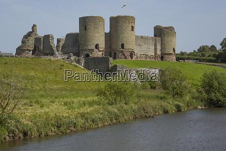 rhuddlan castle denbighshire wales united kingdom