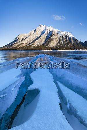 winter scene at lake abraham kootenay