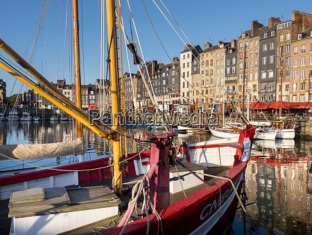 honfleur old port calvados normandy france