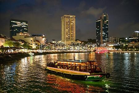 tourist boat near the historic boat