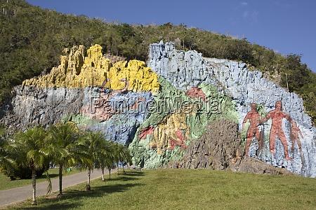 mural of prehistory vinales valley unesco