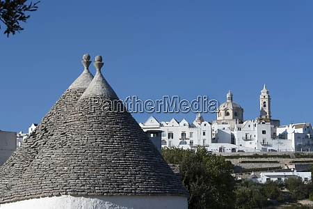 cone shaped roofs of trulli outside