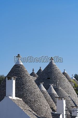 conical dry stone roofs on traditioanl