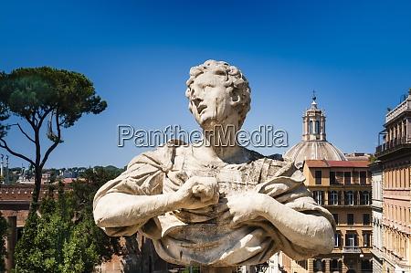 statue at the gardens of villa