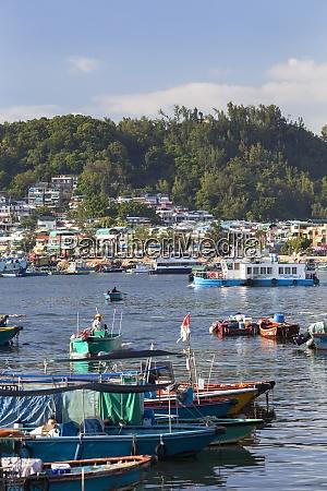 fishing boats in harbour cheung chau