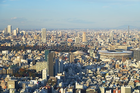 view of tokyo olympic stadium and