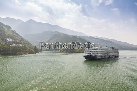 view of cruise ship in the