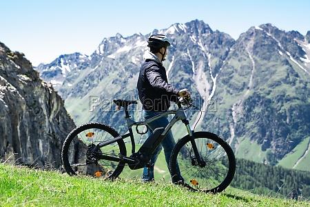 e bike bicycle in austria mountain
