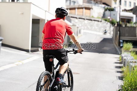 electric bicycle outdoors in city