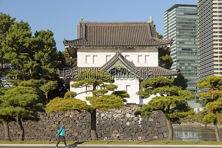 moat and walls of imperial palace
