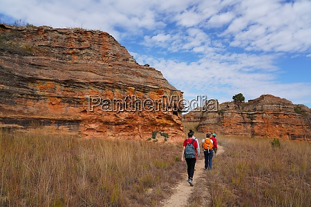 eroded sandstone rock formations at isalo