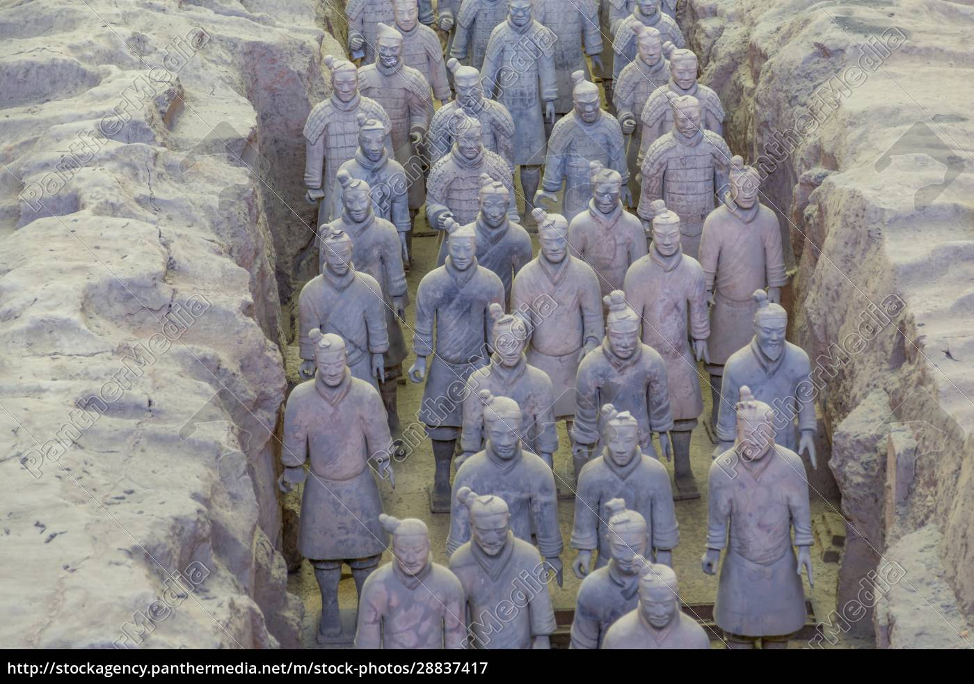 view, of, terracotta, warriors, in, the - 28837417