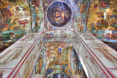 frescoes holy dormition cathedral the holy