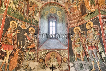interior frescoes church of the holy