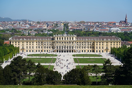 panorama of schonbrunn from the gloriette