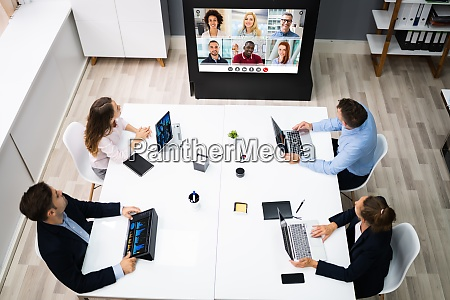 online video conference social distancing business