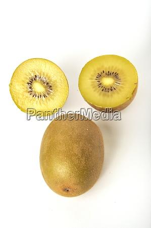 kiwi gold on a white background