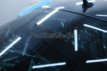 wetted tinting on rear car window