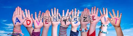 children hands building adventszeit means advent