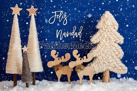christmas tree moose snow feliz navidad