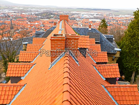 above the roofs of wernigerode