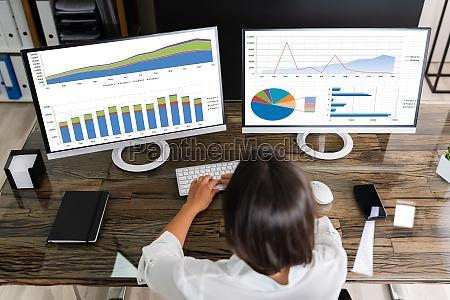 stock analyst desk trading